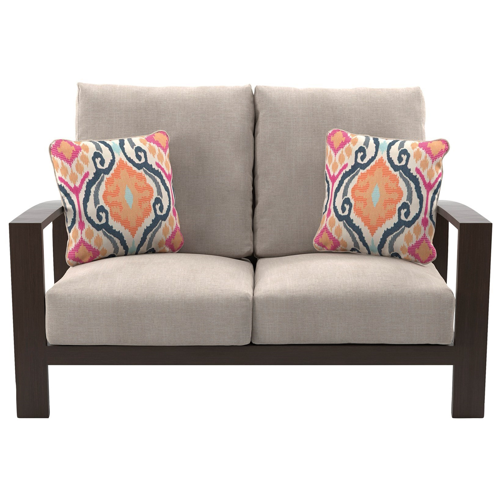 Signature Design by Ashley Cordova Reef Loveseat with Cushion - Item Number: P645-835