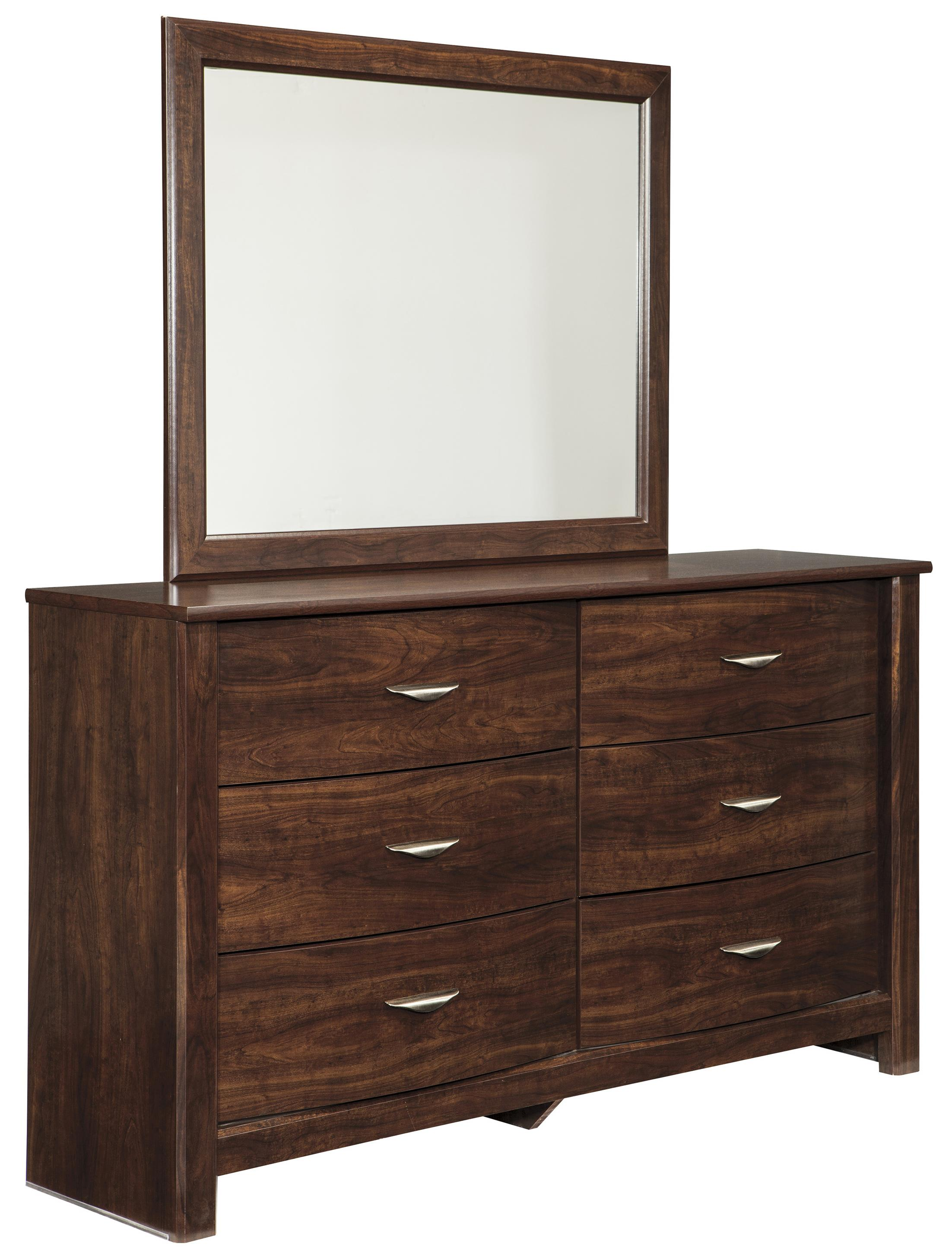 Signature Design by Ashley Corraya Dresser & Bedroom Mirror - Item Number: B428-31+36