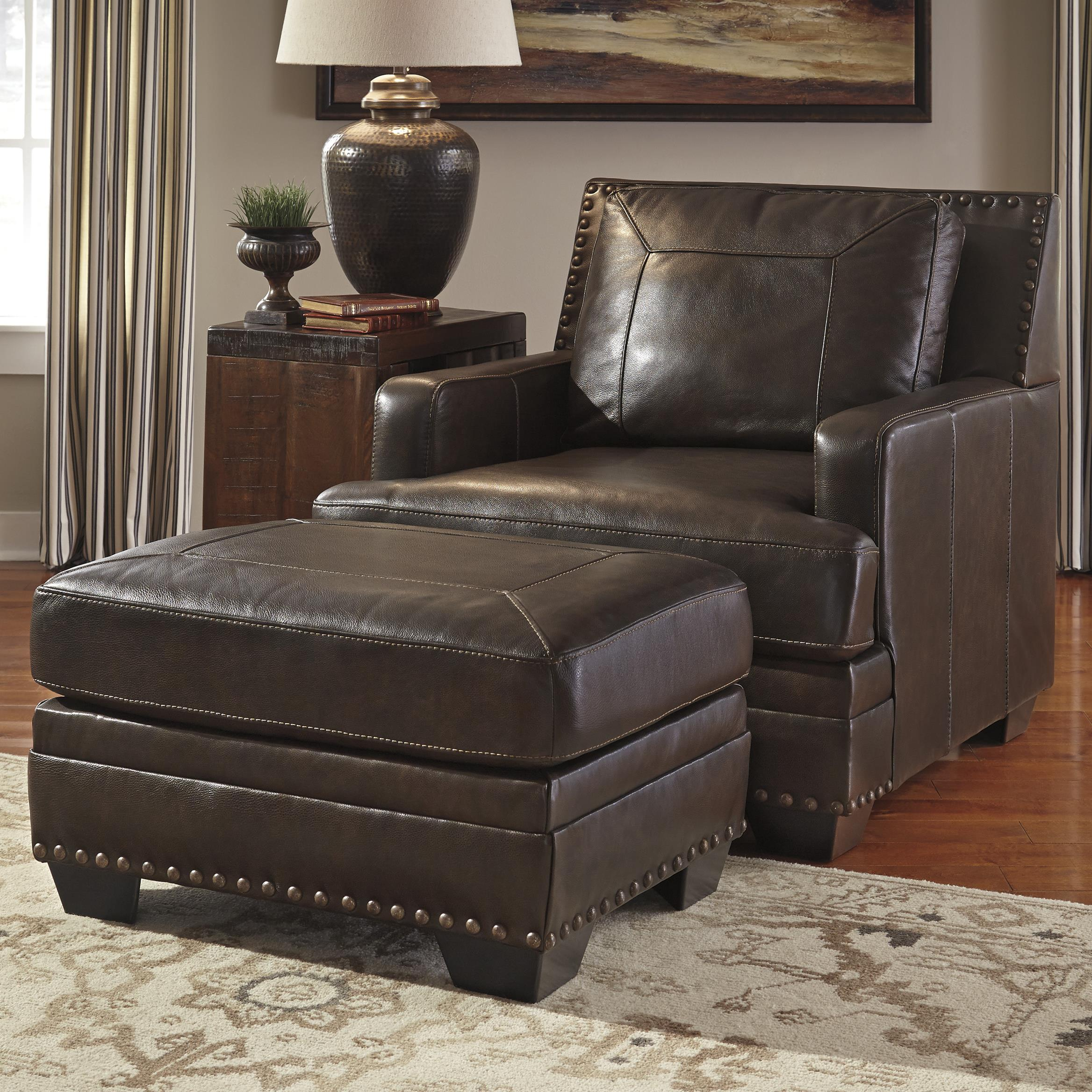 Signature Design by Ashley Corvan Chair & Ottoman - Item Number: 6910320+14