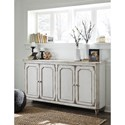 Signature Design by Ashley Mirimyn French Provincial Style Door Accent Cabinet in Antique White Finish