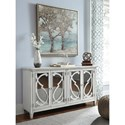 Signature Design by Ashley Mirimyn Door Accent Cabinet in Gray Finish with Mirror Doors