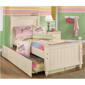 Signature Design by Ashley Cottage Retreat Twin Poster Bed with Trundle