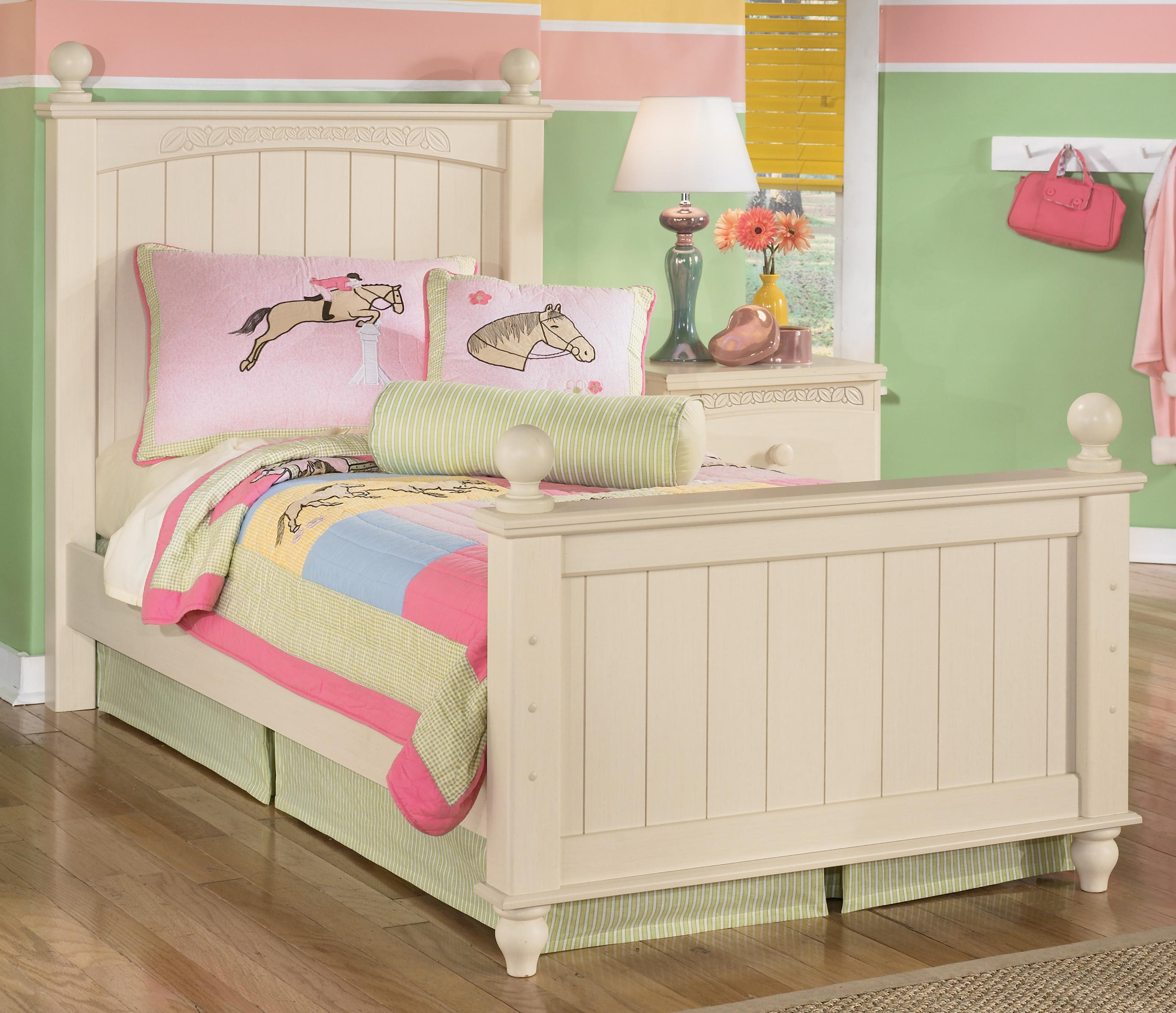Signature Design by Ashley Cottage Retreat Twin Poster Bed - Item Number: B213-52N+51N+83N