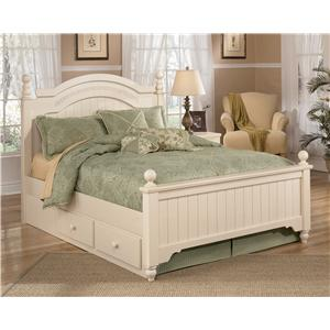 Signature Design by Ashley Cottage Retreat Queen Poster Bed with Underbed Storage