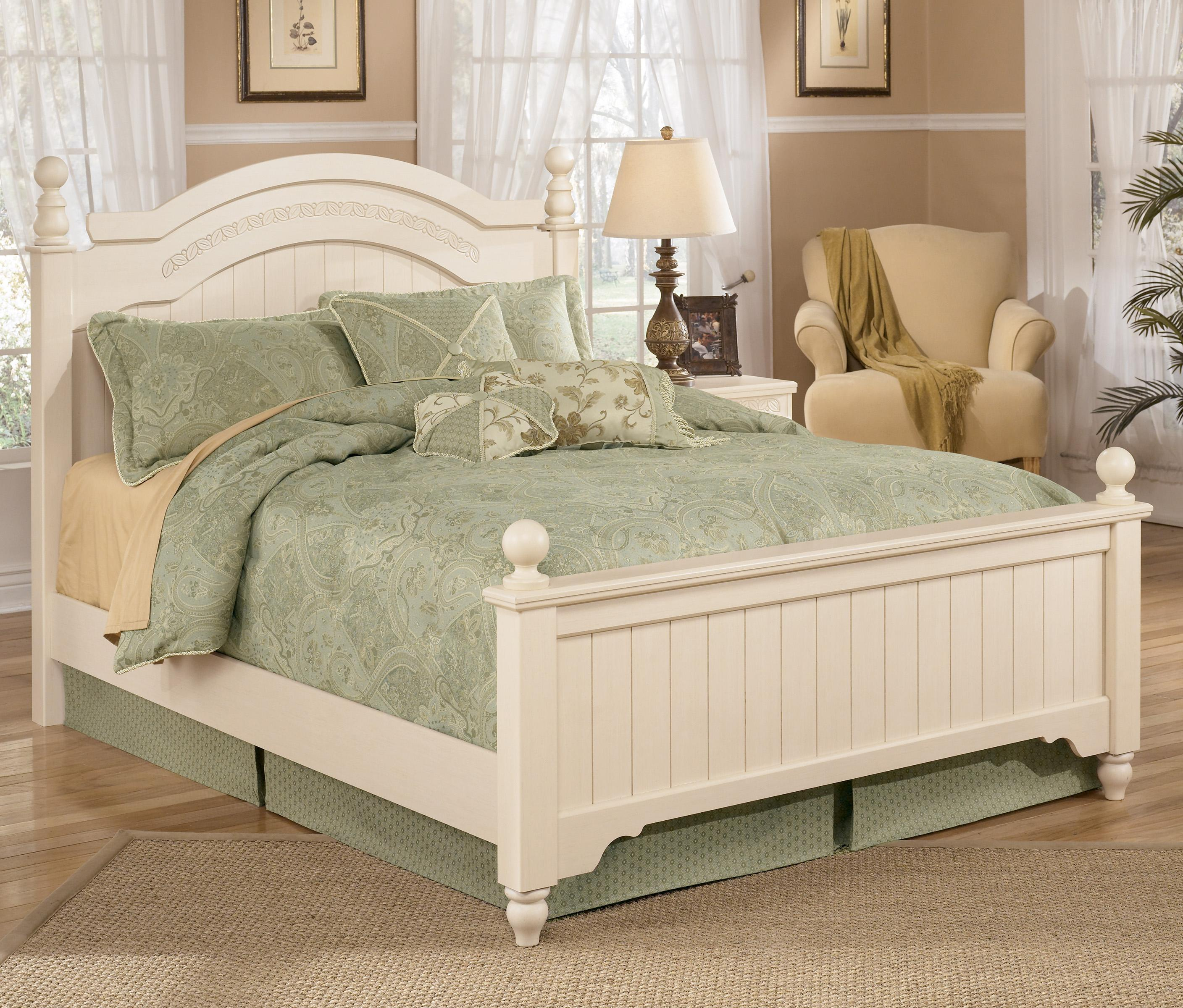Signature Design by Ashley Cottage Retreat Queen Size Poster Bed - Item Number: B213-57N+54N+98N