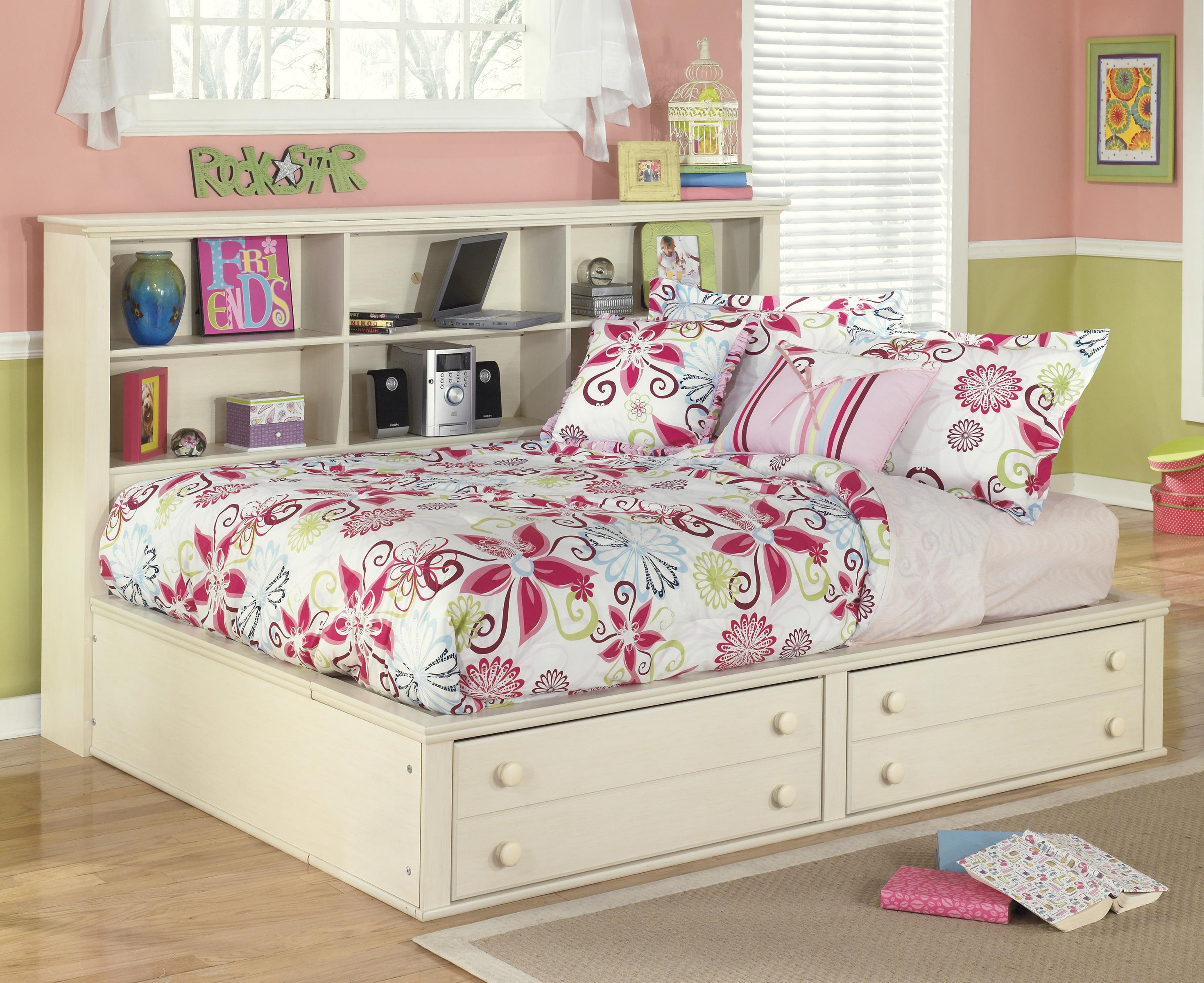 Signature Design by Ashley Cottage Retreat Full Bookcase Bed with Footboard Storage - Item Number: B213-85+05+86