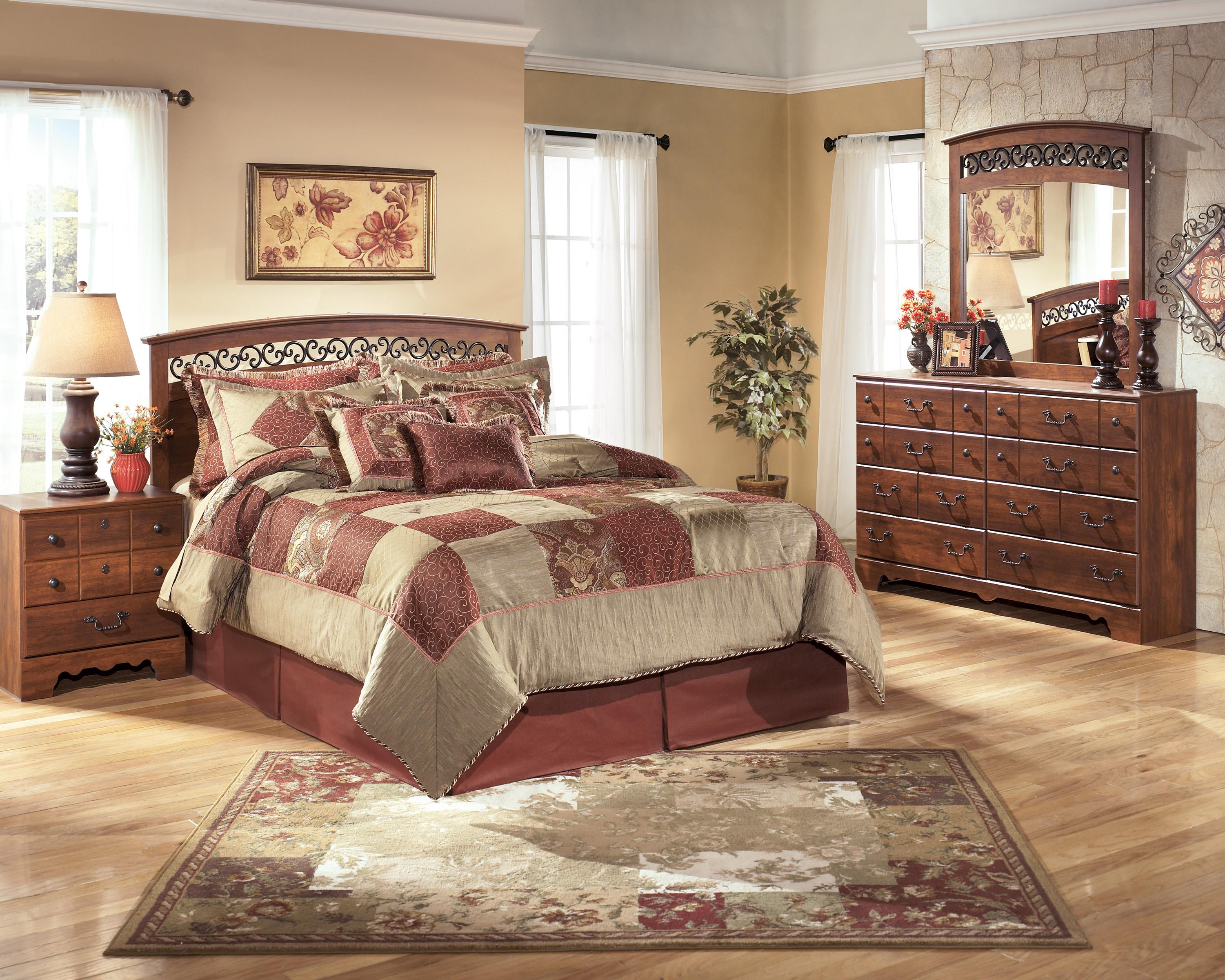 Signature design by ashley timberline queen full bedroom - Ashley furniture full bedroom sets ...