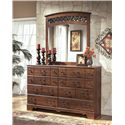 Signature Design by Ashley Timberline 8 Drawer Dresser with Shaped Apron