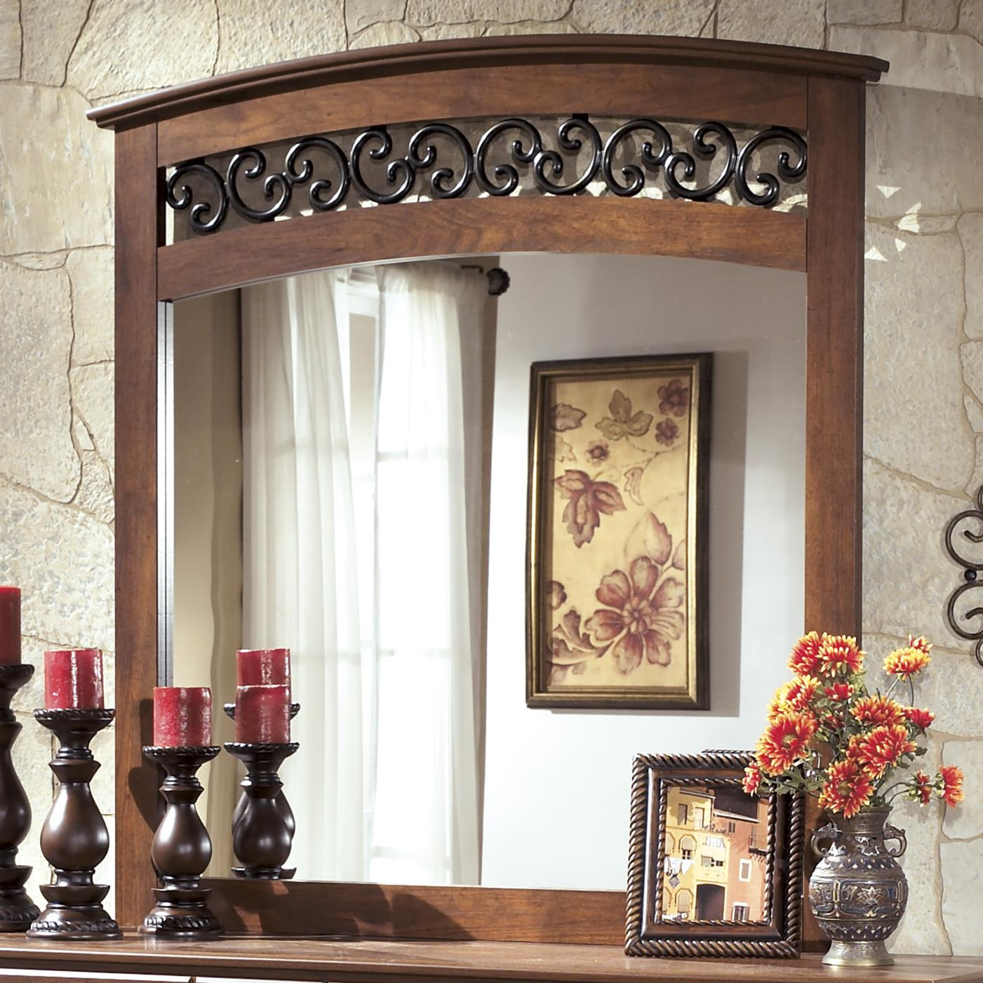 Signature Design by Ashley Timberline Arched Mirror - Item Number: B258-36