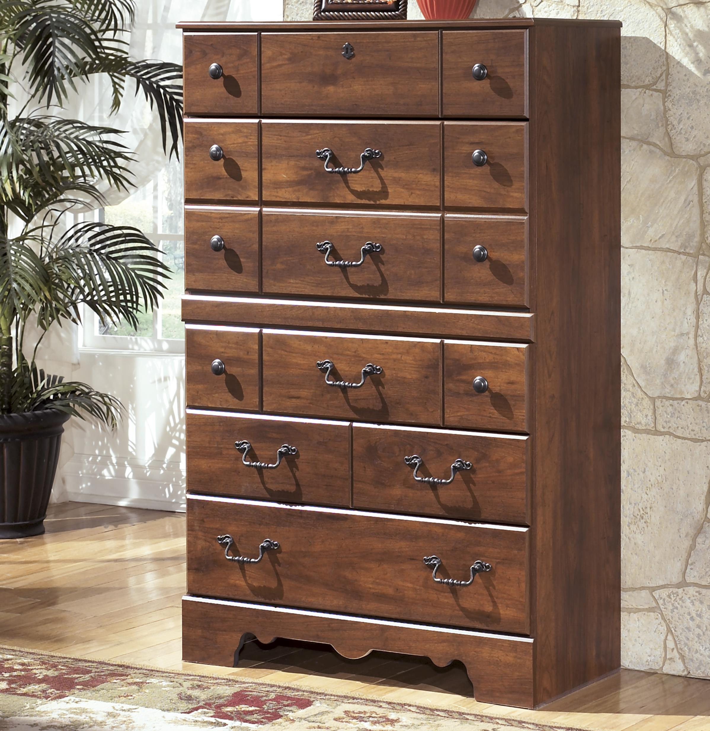 Signature Design by Ashley Timberline 5 Drawer Chest - Item Number: B258-46