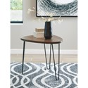 Signature Design by Ashley Courager Triangle End Table with Hairpin Legs