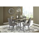Signature Design by Ashley Coverty 5 Piece Round Table and Upholstered Chair Set