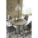 Signature Design by Ashley Coverty Mid-Century Modern Round Dining Table