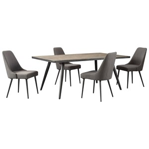 Signature Design by Ashley Coverty 5 Piece Table and Chair Set
