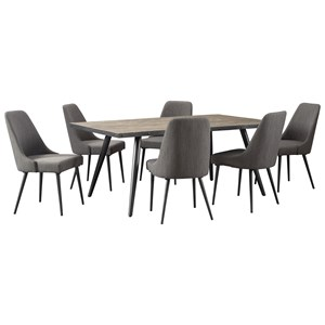 Signature Design by Ashley Coverty 7 Piece Table and Chair Set