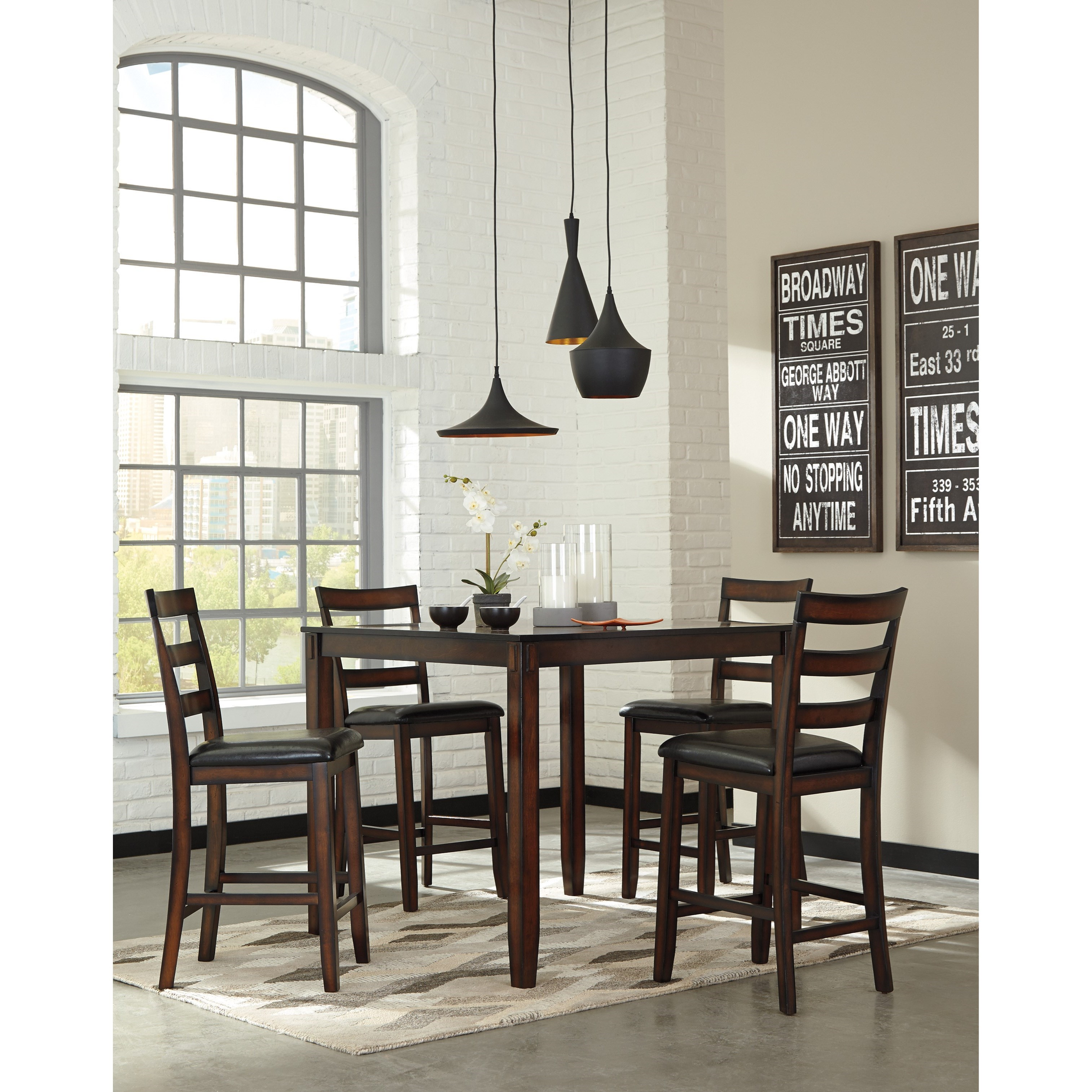 Ashley S Nest Decorating A Dining Room: Signature Design By Ashley Coviar D385-223 Burnished Brown