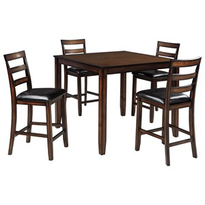 Signature Design by Ashley Coviar 5-Piece Dining Room Counter Table Set