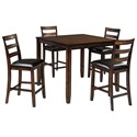 Signature Design by Ashley Coviar 5-Piece Dining Room Counter Table Set - Item Number: D385-223