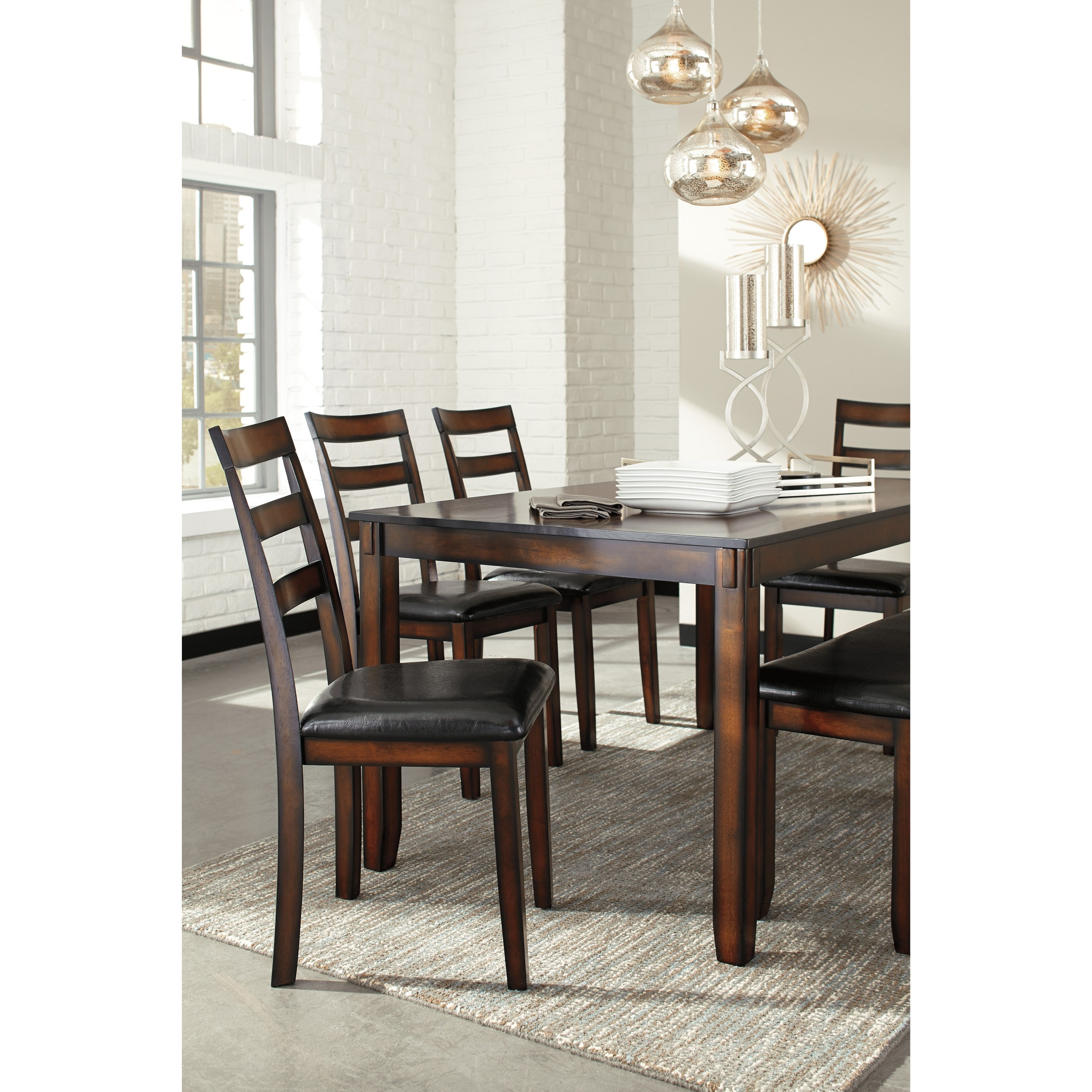 Signature Design By Ashley Besteneer Formal Dining Room: Ashley Signature Design Coviar D385-325 Burnished Brown 6