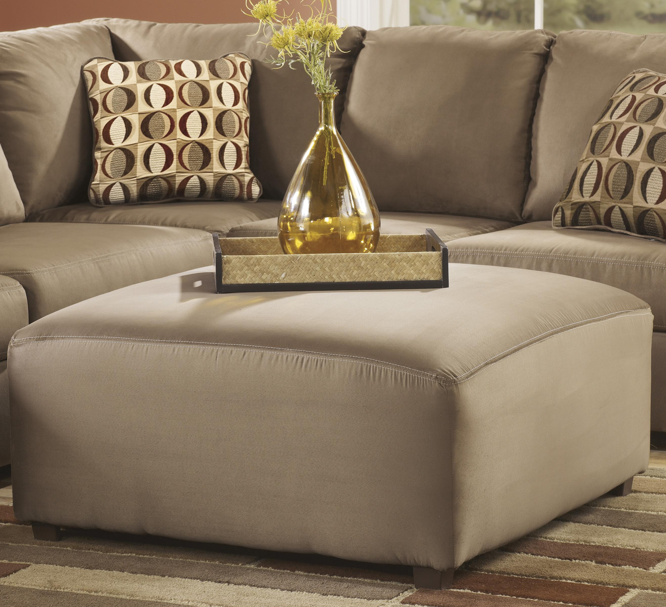Signature Design by Ashley Cowan - Mocha Oversized Accent Ottoman - Item Number: 3070308