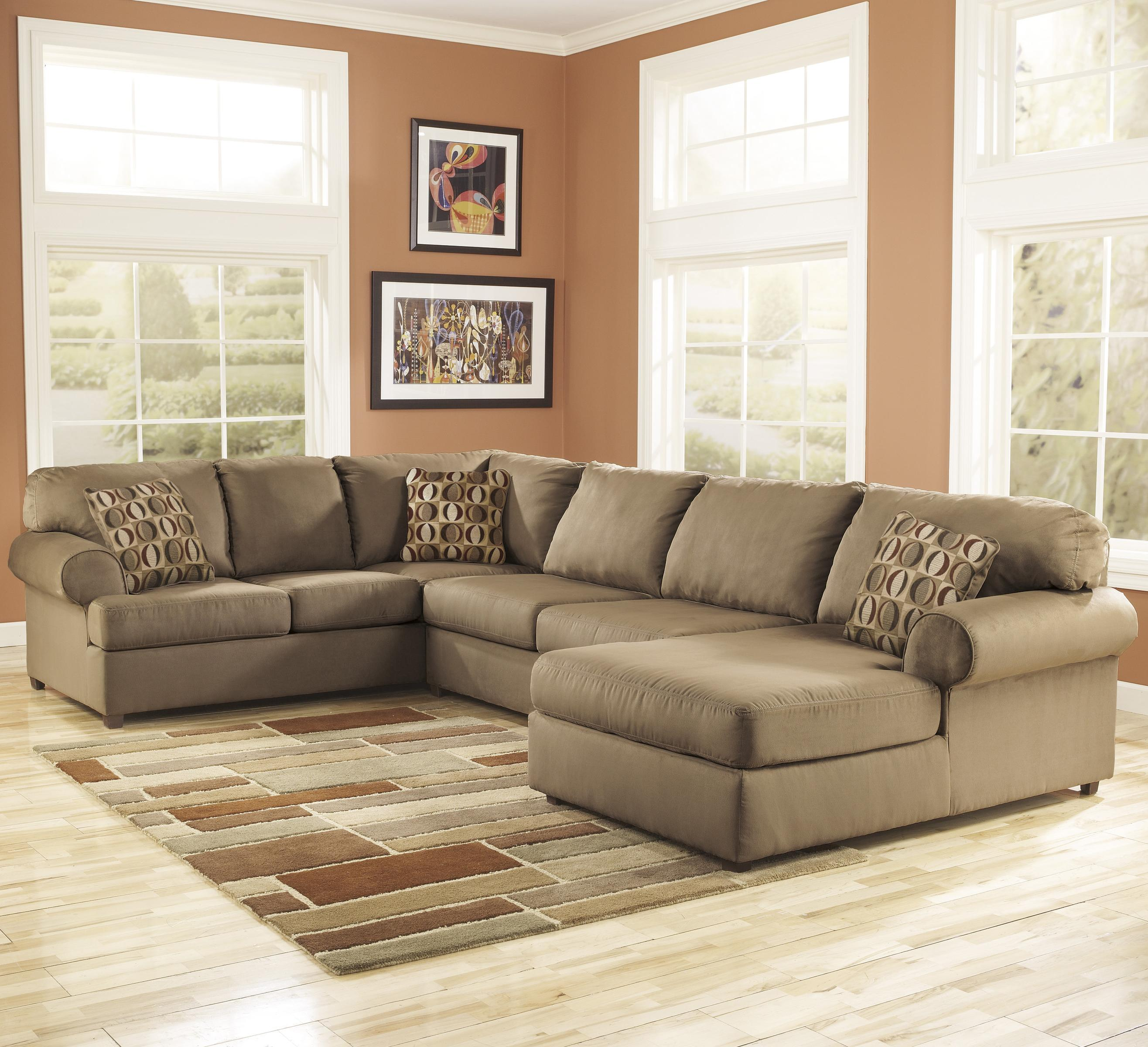 Signature Design by Ashley Cowan - Mocha RAF Corner Sectional - Item Number: 3070317+34+66