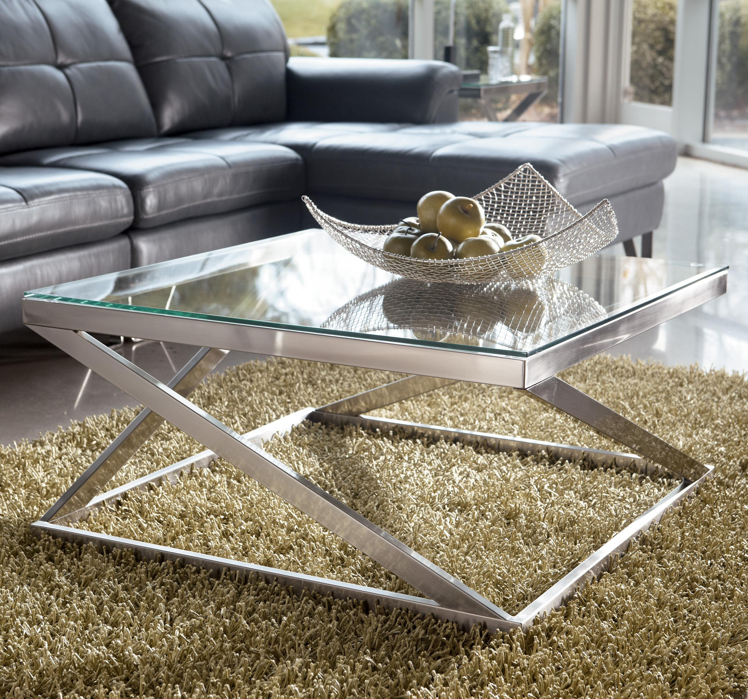 Signature Design by Ashley Coylin Square Cocktail Table - Item Number: T136-8