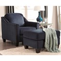 Benchcraft by Ashley Creeal Heights Chair & Ottoman Set - Item Number: 8020220+8020214