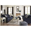 Benchcraft Creeal Heights Nailhead-Studded Chair and Ottoman Set