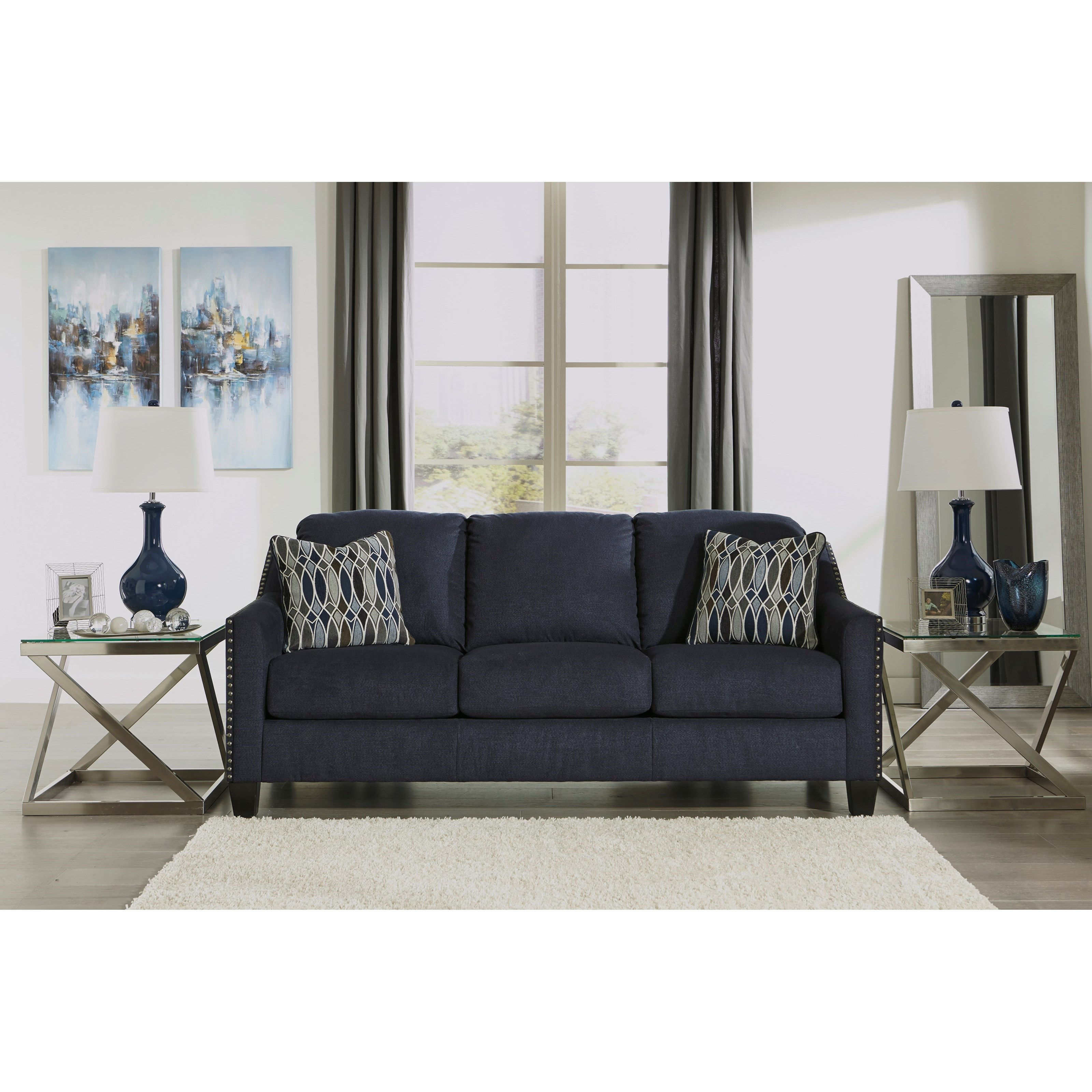 Places That Sell Furniture: Benchcraft By Ashley Creeal Heights Sofa With Nailhead