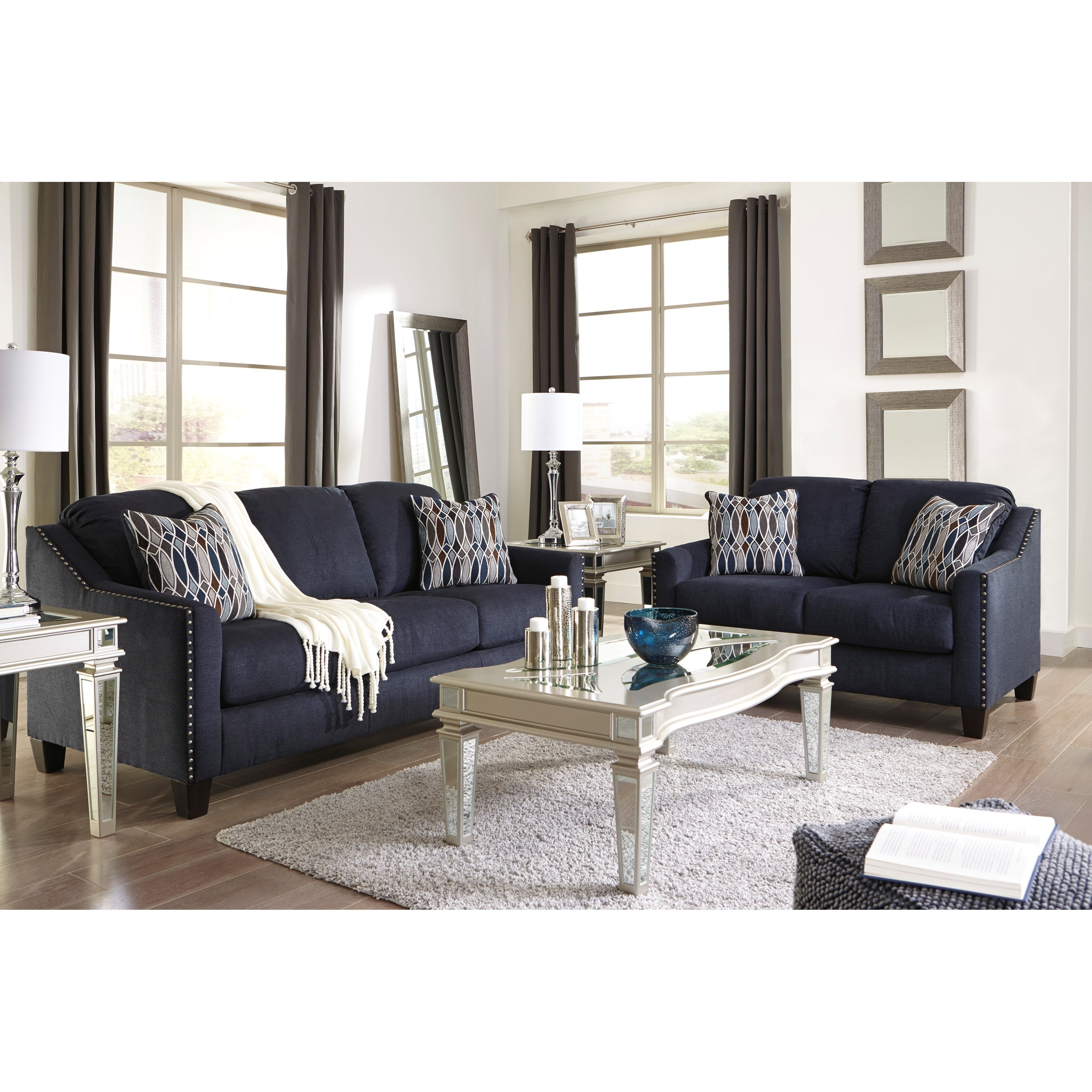 Ashley City Furniture: Benchcraft By Ashley Creeal Heights Sofa With Nailhead