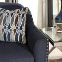 Benchcraft Creeal Heights Memory Foam Sofa Sleeper with Nailhead Studs