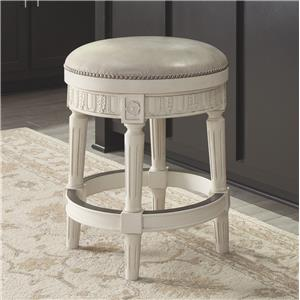 Signature Design by Ashley Crenlam Upholstered Swivel Stool