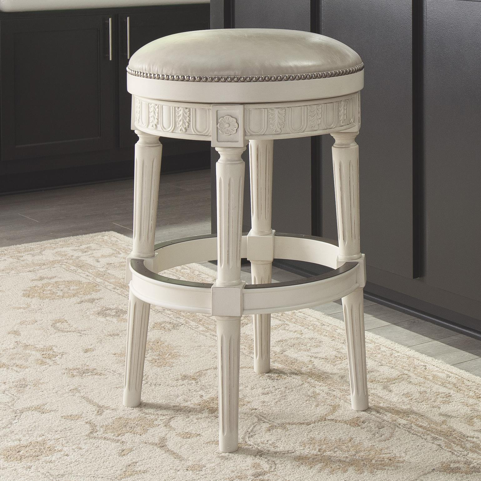 Signature Design by Ashley Crenlam Tall Upholstered Swivel Stool - Item Number: D562-030
