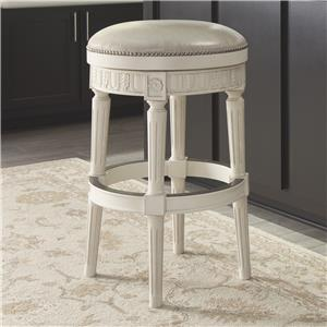 Signature Design by Ashley Crenlam Tall Upholstered Swivel Stool