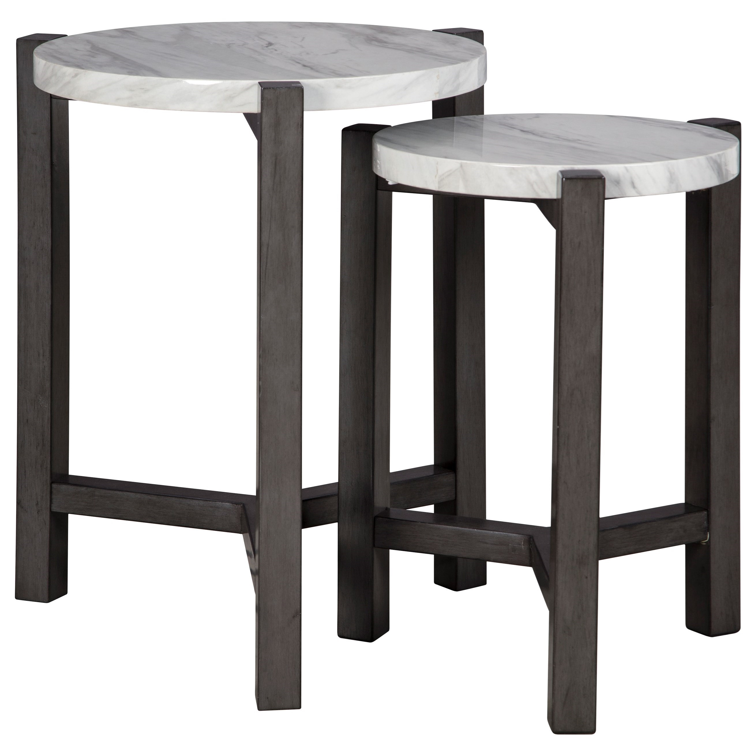 Crossport Accent Table Set by Signature Design by Ashley at Darvin Furniture