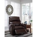 Signature Design by Ashley Crozier Casual Faux Leather Power Recliner