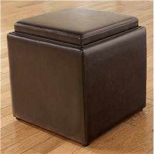 Signature Design by Ashley Cubit - Chocolate Ottoman with Storage