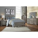 Signature Design by Ashley Culverbach Contemporary Queen Bed with Low-Profile Footboard - Bed Shown May Not Be Size Indicated
