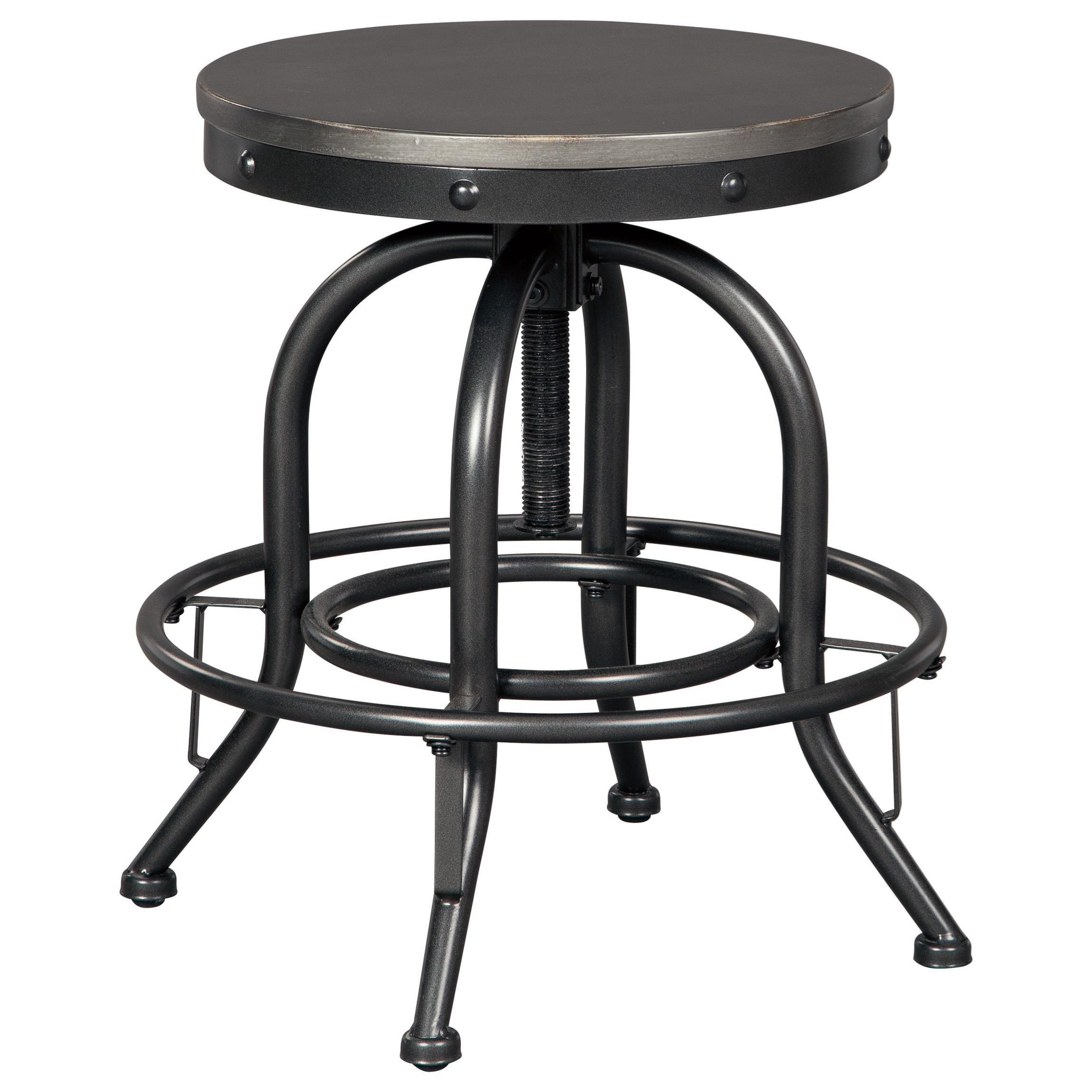Signature Design By Ashley Minnona Adjustable Height Swivel Bar Stool Royal Furniture Bar Stools