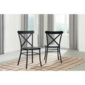 Signature Design by Ashley Minnona Black Dining Room Side Chair