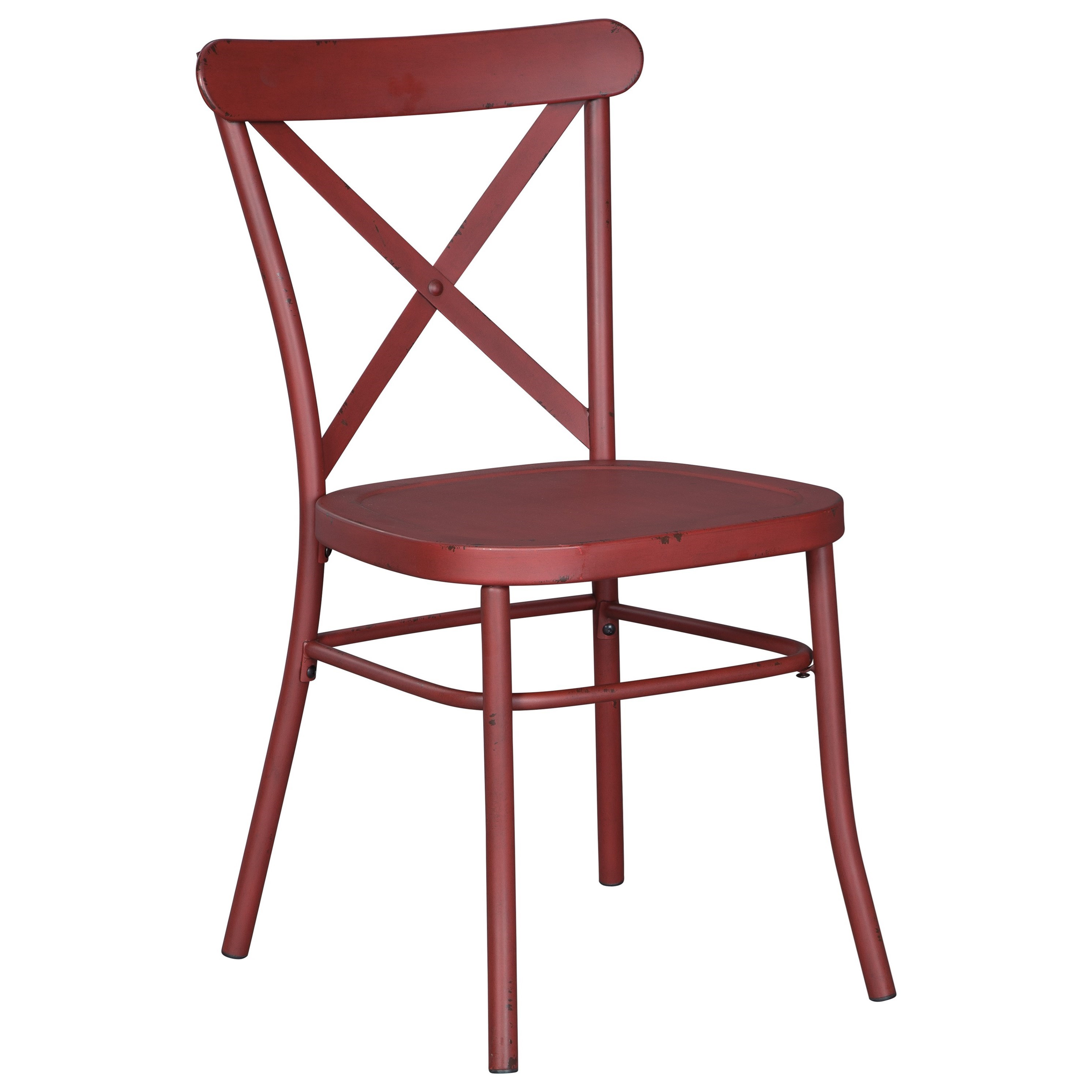 Signature design by ashley minnona red dining room side for Red dining room chairs