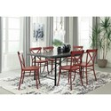 Signature Design by Ashley Minnona Red Dining Room Side Chair