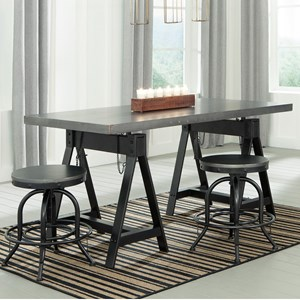 Signature Design by Ashley Minnona 3 Piece Dining Set