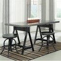 Signature Design by Ashley Minnona 3 Piece Dining Set - Item Number: D400-213+2x024