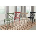 Signature Design by Ashley Minnona 5 Piece Rectangular Table Set w/ Colorful Chairs