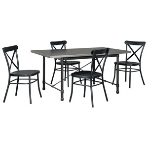 Signature Design by Ashley Minnona 5 Piece Rectangular Dining Set
