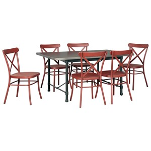 Signature Design by Ashley Minnona 7 Piece Rectangular Dining Set