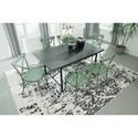 Signature Design by Ashley Minnona 7 Piece Rectangular Dining Set w/ Light Green Chairs