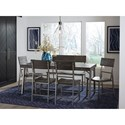 Signature Design by Ashley Raventown Casual Rectangular Dining Table with Metal Legs