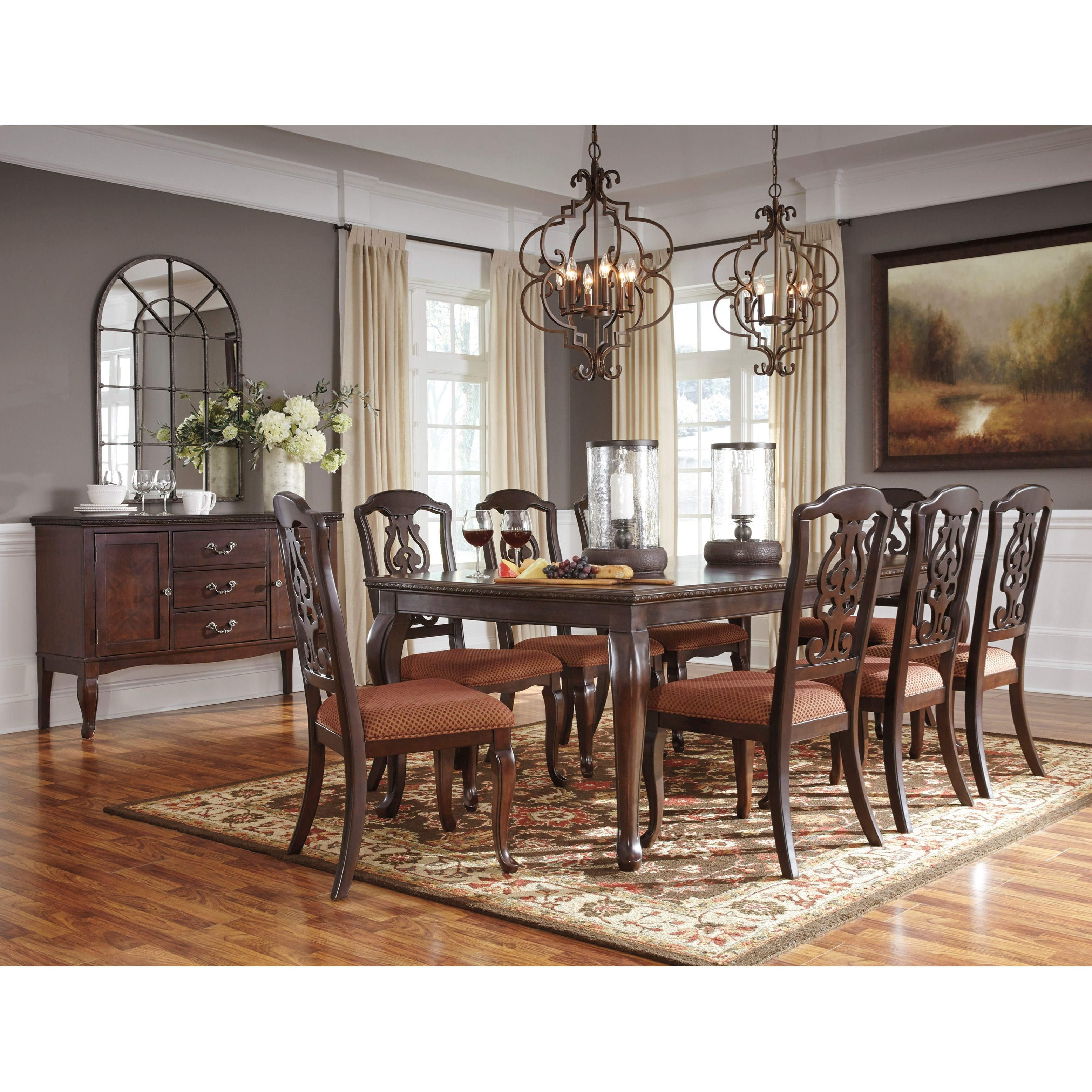 Signature Design by Ashley Gladdenville Formal Dining Room Group - Item Number: D578 Dining Room Group 4